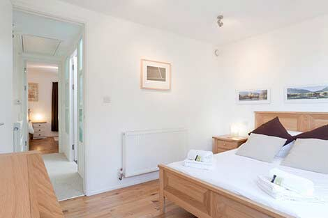Double bedroom and hallway to second bedroom Sorgente holiday cottage